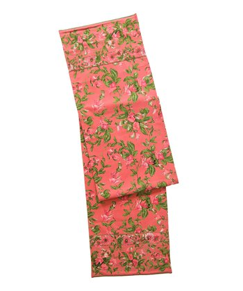 Coral Sweet Pea Table Runner