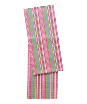 Pink Gazebo Stripe Table Runner