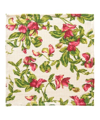 Ecru Sweet Pea Little Dish Towel - Set of Two