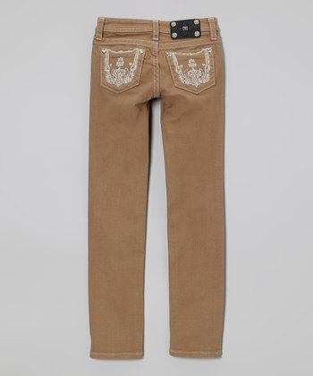 Golden Brown Skinny Jeans