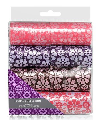 Purple & Pink Floral Waste Bag Set