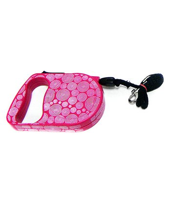 Pink Swirl Retractable Leash