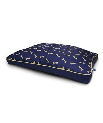 Blue & Gold Bone Gusset Pet Bed