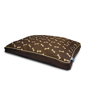 Brown  & Gold Bone Gusset Pet Bed
