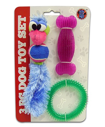 Pink Bone Pet Toy Set