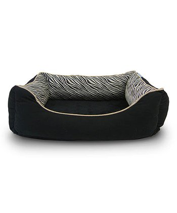 Tan Zebra Orthopedic Cuddler Pet Bed