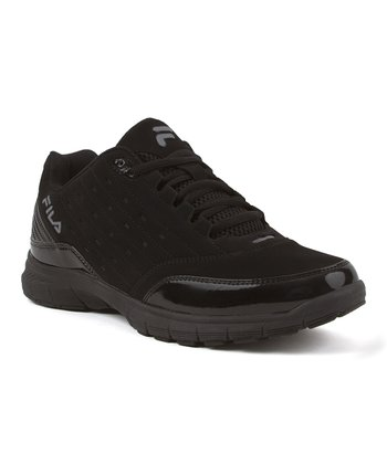 Black & Dark Silver Postup Low Memory Running Shoe - Men