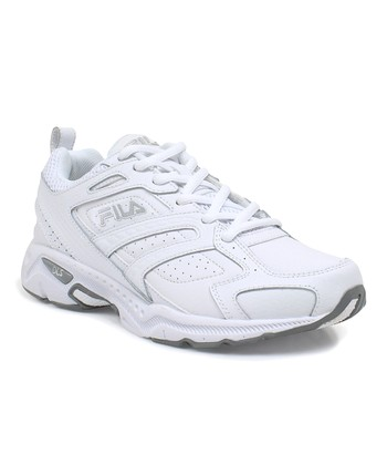 White & Silver Capture Running Shoe - Women
