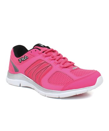 Neon Pink & Black Resilient BC Running Shoe - Women