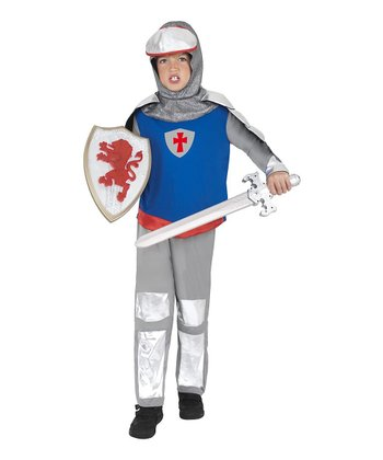 Silver & Blue Knight Dress-Up Outfit - Kids