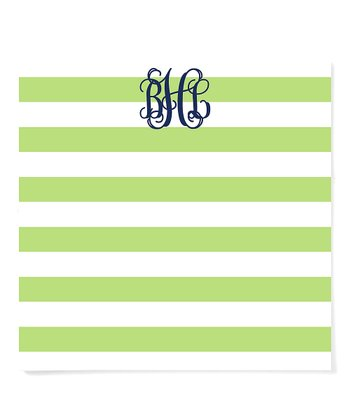 Wide Stripe Chunky Monogram Notepad