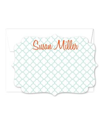 Trellis Personalized Note Card & Envelope Set