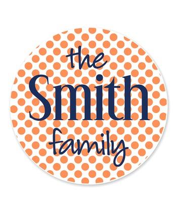 Mini Dots Family Name Personalized Coaster - Set of 24