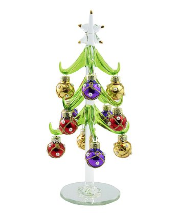 Pearl Ornament Miniature Glass Tree Set