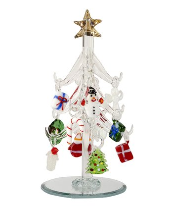 Whimsical Ornament Miniature Glass Tree Set
