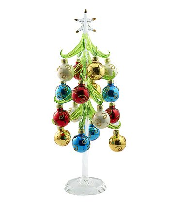 Crystal Base Glass Ornament Tree