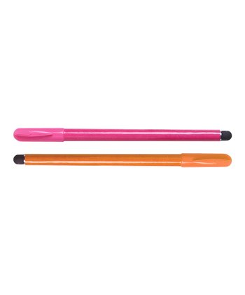 Pink & Orange Stylus Pen Set