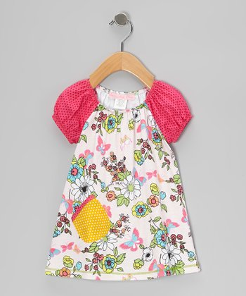 Pink Madame Butterfly Cutie-Pie Dress - Infant, Toddler & Girls