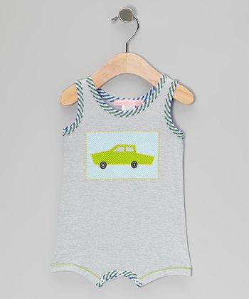 Gray Car Romper - Infant