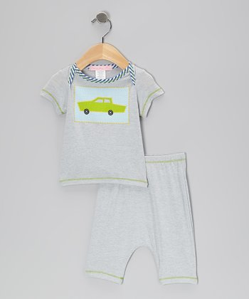 Gray Car Tee & Pants - Infant