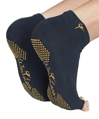Black & Gold Yogi Traction Socks