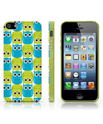 Blue & Green Owl Case for iPhone 5