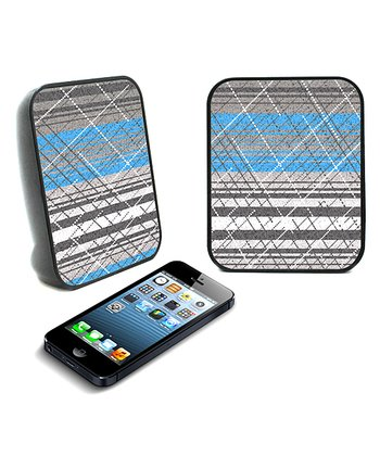 Blue Dotted Twin Speaker - Set of Two