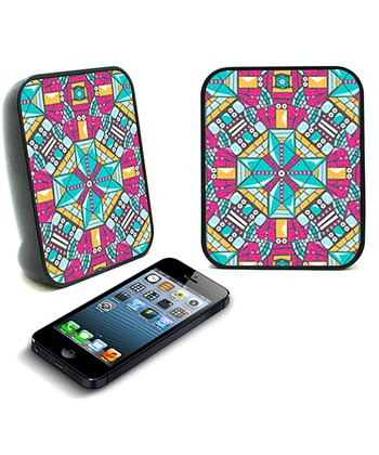 Pink Tribal Mosaic Twin Speaker - Set of Two