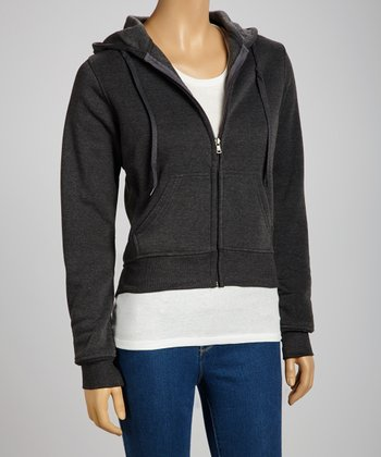 Charcoal Zip-Up Hoodie