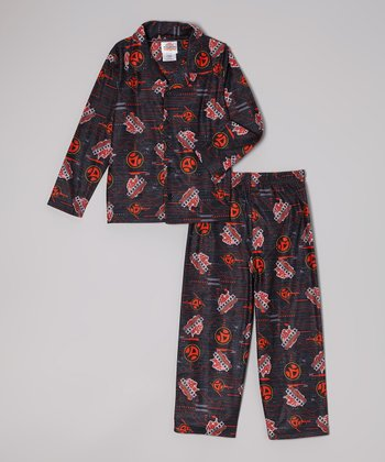 Blue & Orange Bakugan Pajama Set - Boys