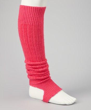 Mondor Electric Pink Stirrup Leg Warmers