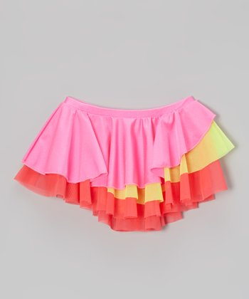 Mondor Hot Pink Tiered Ruffle Skirt - Toddler & Girls