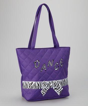 Purple Zebra 'Dance' Tote