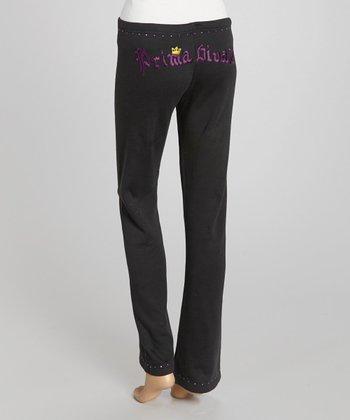 Black 'Prima Divaz' Sweatpants - Women