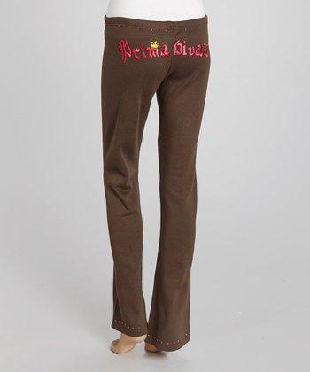 Brown 'Prima Divaz' Sweatpants - Women