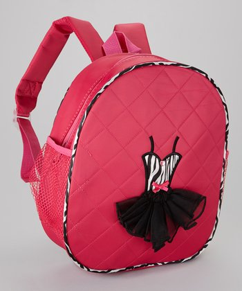 Seesaws & Slides Fuchsia Zebra Ballet Dress Backpack