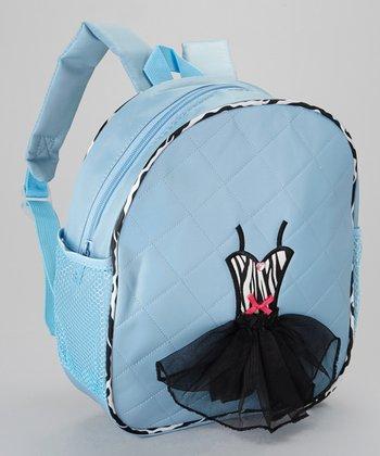 Seesaws & Slides Blue Zebra Ballet Dress Backpack