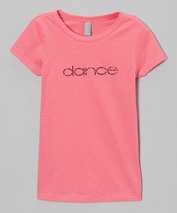 3 Pearls Kids Hot Pink Rhinestone 'Dance' Tee - Toddler & Girls