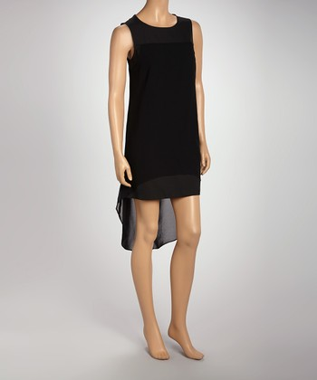 Black Cutout Hi-Low Shift Dress