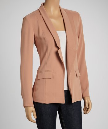 Dusty Peach Open Blazer