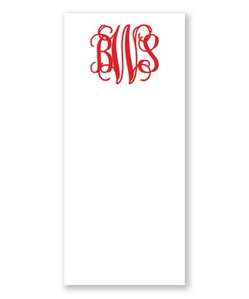 Red Monogram List Pad