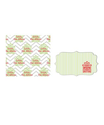 Zigzag Personalized Wrapping Paper & Sticker Set