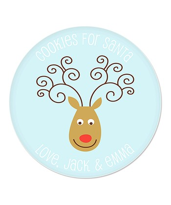 Reindeer Personalized 'Cookies For Santa' Plate