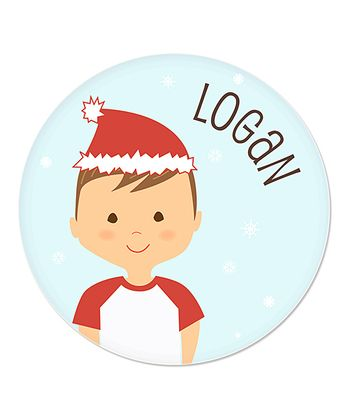 Light Brown-Haired Boy Christmas Plate