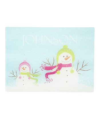 Snowman Personalized Cutting Board