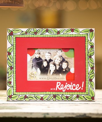 'Rejoice' Personalized Picture Frame