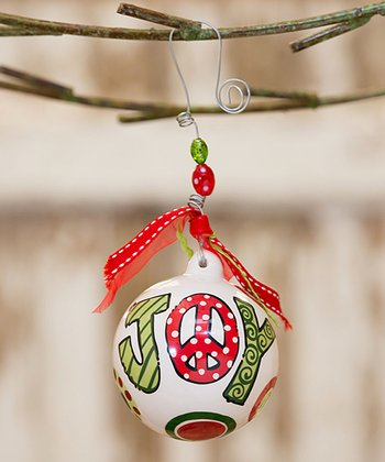 Peace & Joy Personalized Ball Ornament