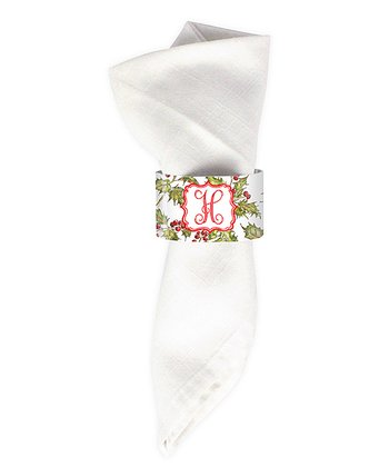 Hollyberry Initial Napkin Ring