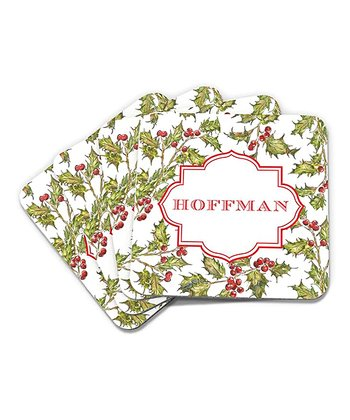 Hollyberry Personalized Coaster - Set of Four