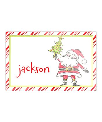 Darling Santa Personalized Place Mat